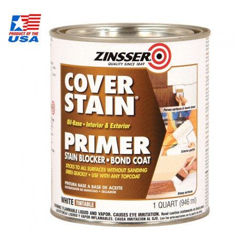 Rust Oleum Zinsser® Cover-Stain® Oil-Base Primer ชนิดทา (0.946 ลิตร) 3504
