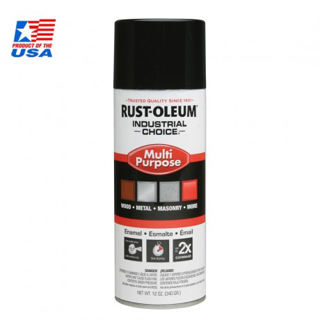 Rust Oleum Multi-Purpose Spray สีสเปรย์ อุตสาหกรรม Glossy Black