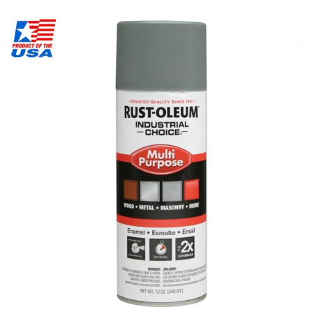 Rust Oleum Multi-Purpose Spray สีสเปรย์ อุตสาหกรรม Smoke Gray