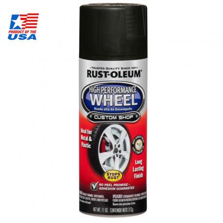 Rust Oleum® High Performance Wheel - สีสเปรย์ พ่นล้อแมกซ์ # 248928 (Matte Black)
