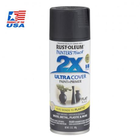 สีสเปรย์ กันสนิม - Rust-Oleum 2X - Flat Black
