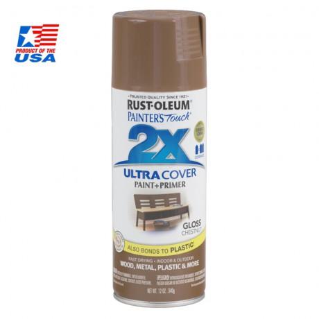 สีสเปรย์ กันสนิม - Rust-Oleum 2X - Chestnut