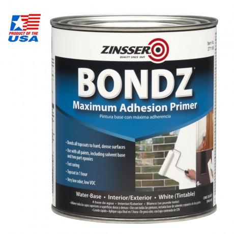 Zinsser สีรองพื้นวัสดุผิวเรียบ กระเบื้อง ไฟเบอร์กลาส แก้ว สูตรน้ำ Bondz High Adhesion Primer 271198