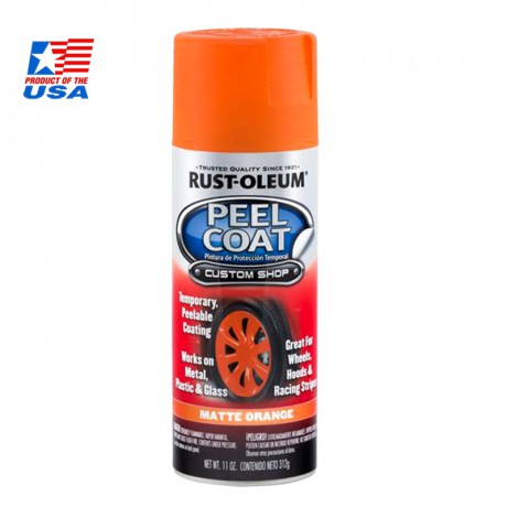 Rust Oleum Peel Coat - สีพ่นล้อ ลอกได้ ส้ม