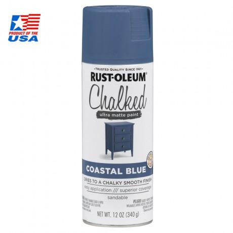 Rust Oleum Chalked Ultra Matte Paint - สีสร้างพื้นผิว vintage 302598 (Coastal Blue)