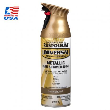 Rust Oleum Universal Spray Metallic - สเปรย์ เมทัลลิค พรีเมี่ยม Satin Bronze