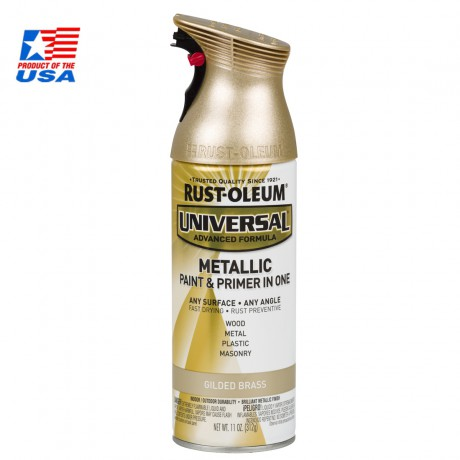 Rust Oleum Universal Spray Metallic - สเปรย์ เมทัลลิค พรีเมี่ยม Gilded Brass