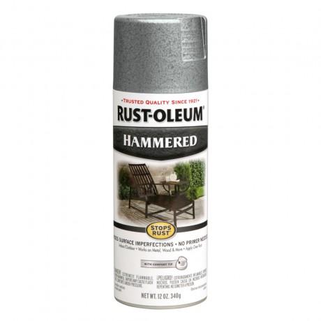 Rust Oleum Hammered Spray - สีสเปรย์กันสนิม ลายฆ้อน  Silver
