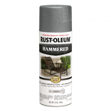 Rust Oleum Hammered Spray - สีสเปรย์กันสนิม ลายฆ้อน  Gray