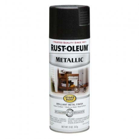 Rust Oleum Metallic Spray - Rust Protection สีสเปรย์ กันสนิม เมทัลลิค Black Night
