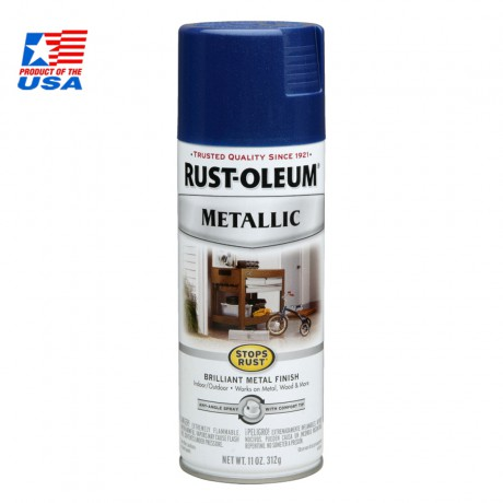 Rust Oleum Metallic Spray - Rust Protection สีสเปรย์ กันสนิม เมทัลลิค Cobalt Blue
